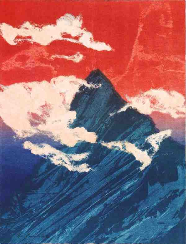 """Monotype """"patriotic Fuji"""""""