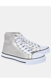 Cady metallic sneaker, ασημί