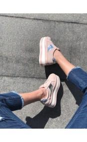 Sierra suede sneaker, baby pink