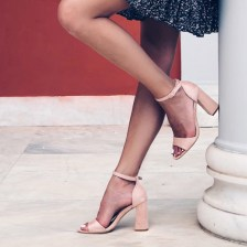 Belen barely there πέδιλο, baby pink