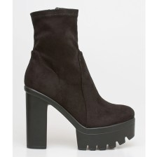 Willa suede boot, μαύρο