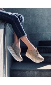 Brooke δερμάτινο sneaker, μπεζ