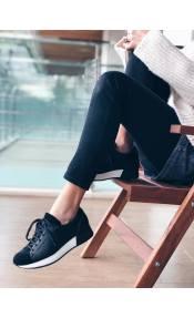 Sadie δερμάτινο sneaker, μαύρο