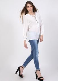 Aviana lace up μπλούζα, λευκό