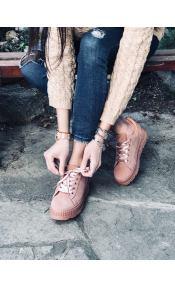 Emily suede sneaker, ροζ