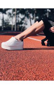 Kayla ματ sneaker, λευκό