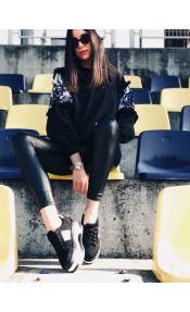 Sierra suede sneaker, μαύρο