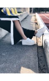 Jenna ματ sneaker, λευκό