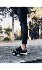 Sarah suede sneaker, μαύρο