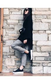 Morgan ματ sneaker, μαύρο