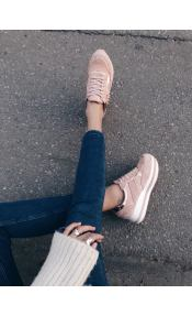 Sarah suede sneaker, baby pink