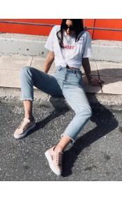 Julia suede sneaker, baby pink