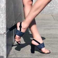 Zara suede πέδιλο, μπλε