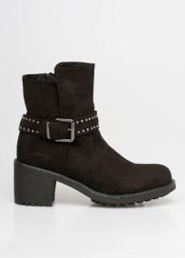 Keira ankle block boot, μαύρο