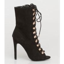 Kalia peep-toe boot, μαύρο