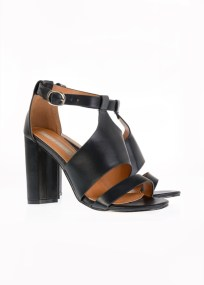 Carmela Leather Like Πέδιλο, Μαύρο