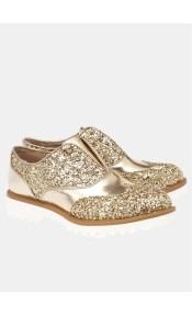 Violet college shoe glitter, χρυσό