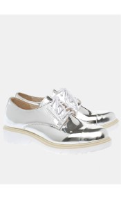 Holly metallic college shoe, ασημί