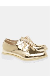Holly metallic college shoe, χρυσό