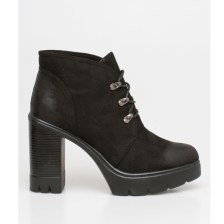 Abby block heel boot, μαύρο
