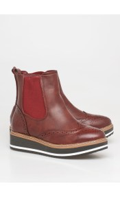 Miley oxford boot, μπορντό