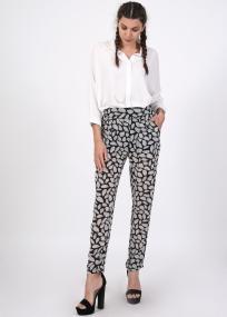 Junya printed παντελόνα
