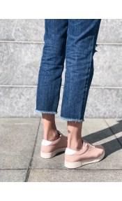 Erin δερμάτινο sneaker, baby pink