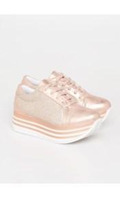 Nicole δερμάτινο sneaker, χαλκού