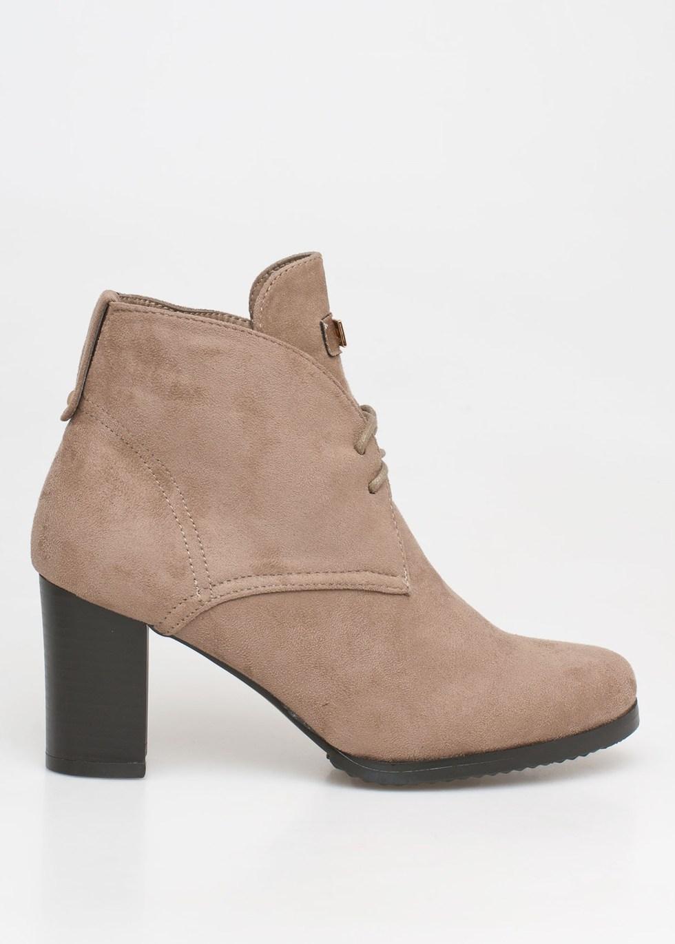 Valery block heel boot, μπεζ