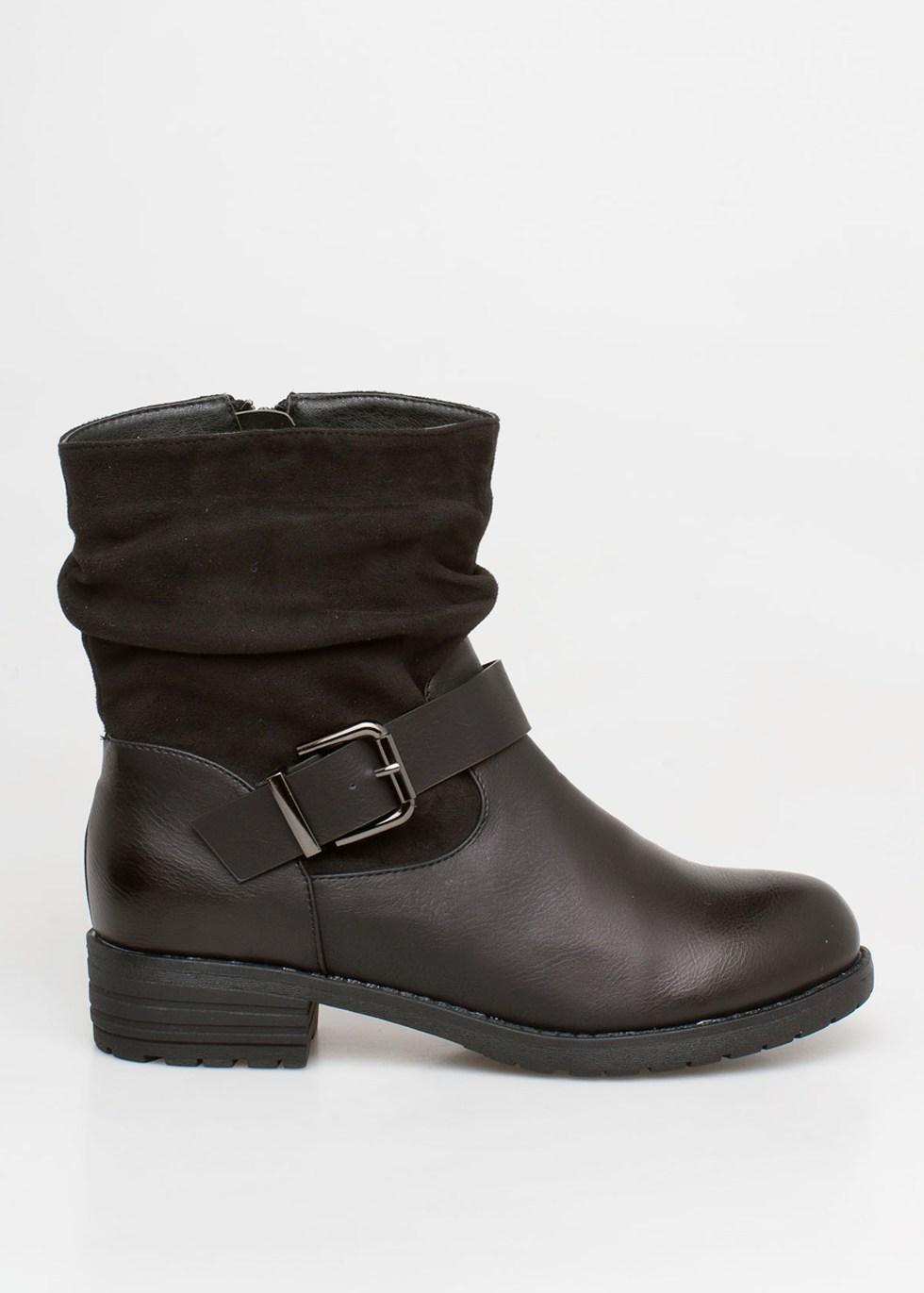 Arden suede boot, μαύρο