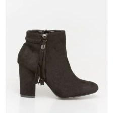 Casy braid boot, μαύρο