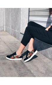 Ariel δερμάτινο sneaker, μαύρο