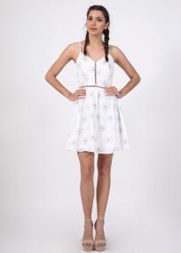Freja mini φόρεμα, λευκό