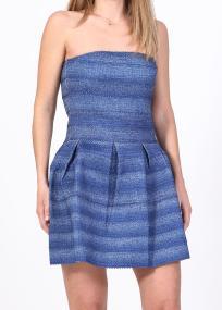 Harlow strapless denim φόρεμα, μπλε