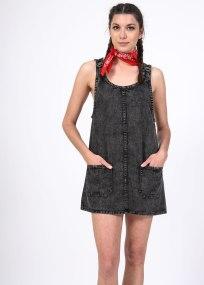 Florianna denim φόρεμα, μαύρο