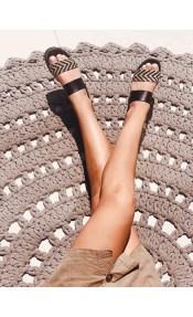 Noemi Leather Like Πλατφόρμα, Μαύρο