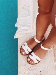 Portia Leather Like Σανδάλι, Λευκό