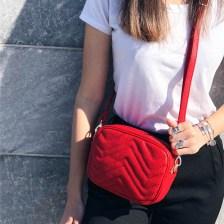 Mila cross body bag, κόκκινο
