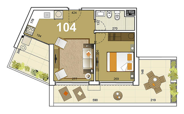 Torre Indigo 1 dormitorio 104