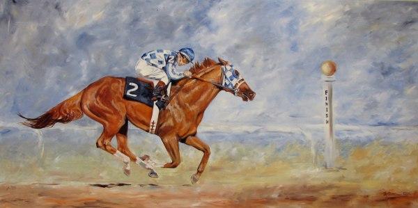 Secretariat Horse Oil Painting