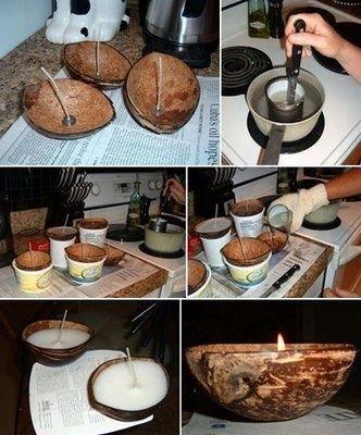 fruit basket for kitchen water hose sink dicas de artesanatos feitos com casca coco - artesanato ...