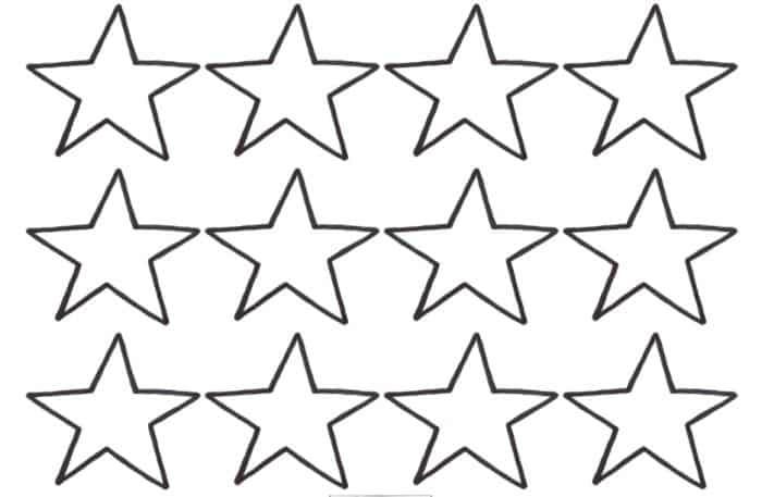 Molde de Estrela: 30 Imagens para Imprimir e Recortar