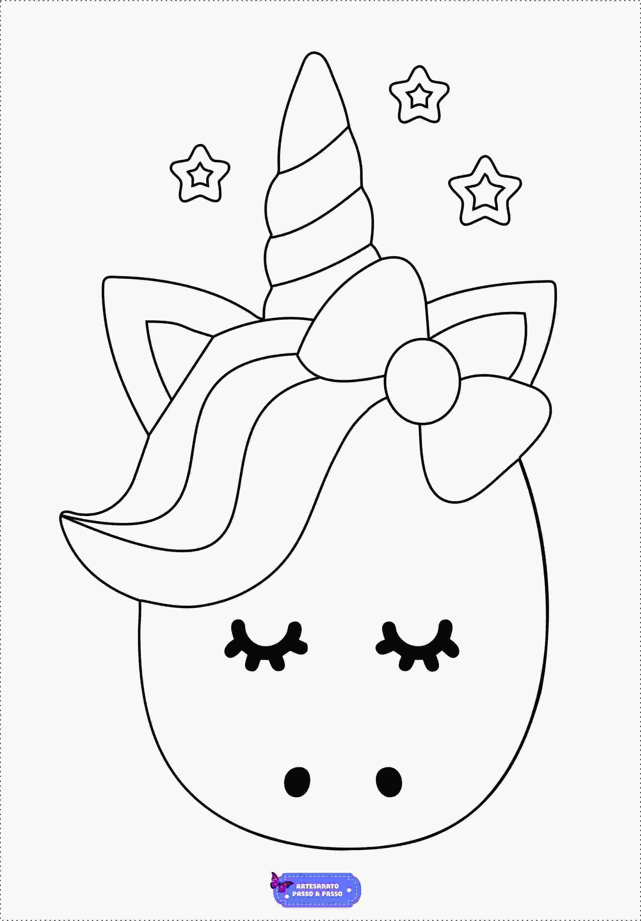 Os moldes pode usados com temas para. Desenhos de Unicórnio para colorir - Artesanato Passo a Passo!