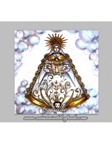 Azulejo Cuadrado de la Virgen del Rocio  Tienda Cofrade