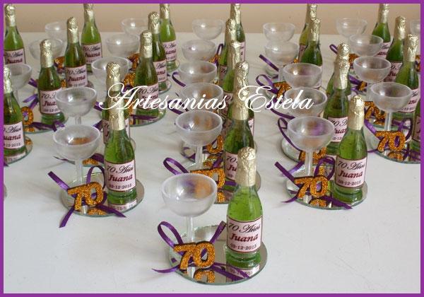 15 Para De Anos Botellas Con Mesa Vino Centros De