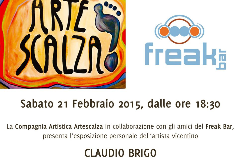 La personale di Claudio Brigo al Freak Bar.
