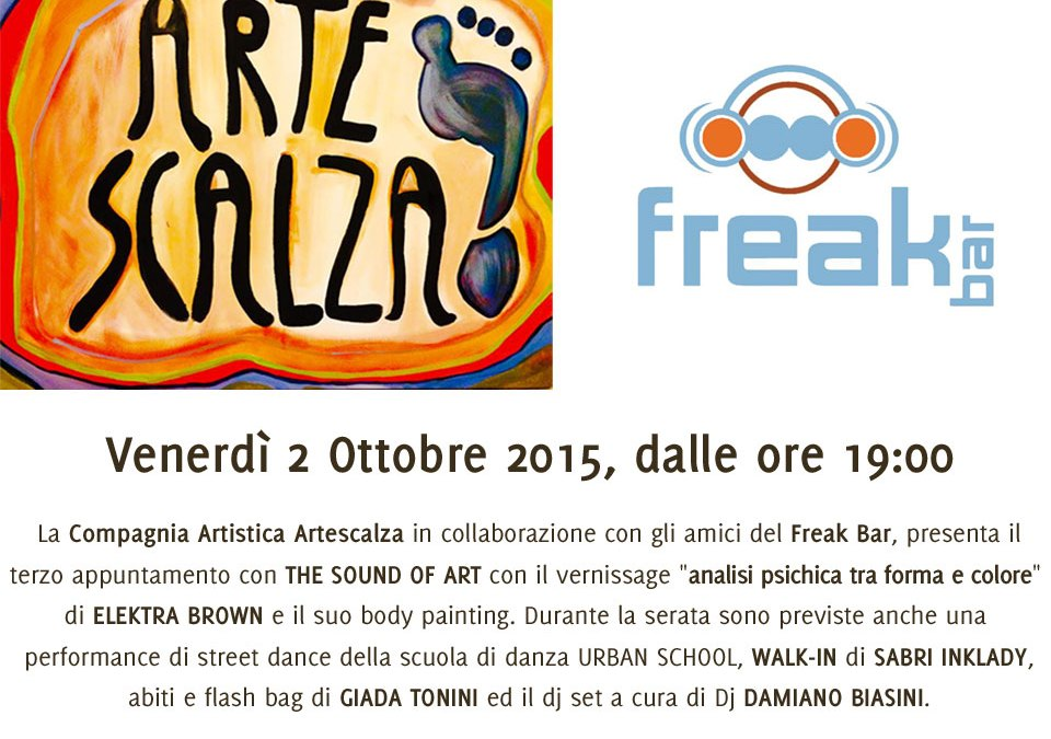 Terzo appuntamento con The Sound of Art al Freak Bar
