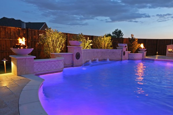 Dallas Plano Pool Fountains Custom Water Features