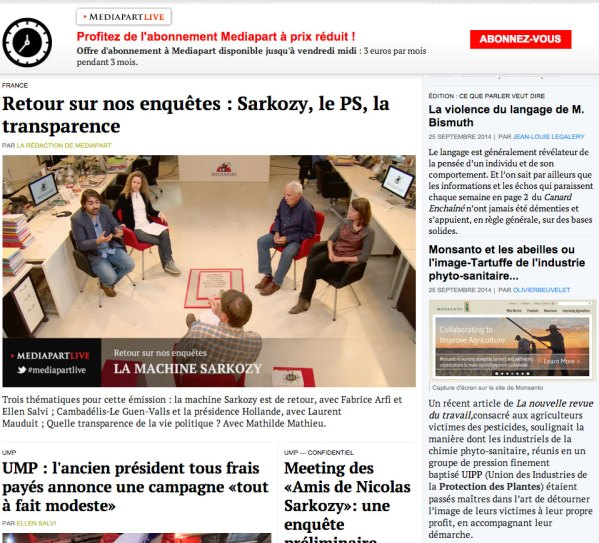 mediapart.fr front page