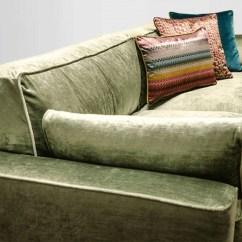 70s Sofa Lounger Bed Large Velvet Sofa, Green ...